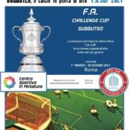 APD-OIR è lieta di patrocinare la F.A. CUP – Subbuteo 2021